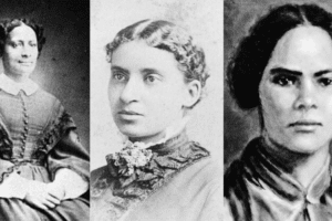 Three female abolitionists portraits