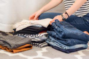 folding clothes as chores