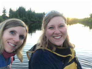 floating on the Chena river during the Summer Solstice in Alaska