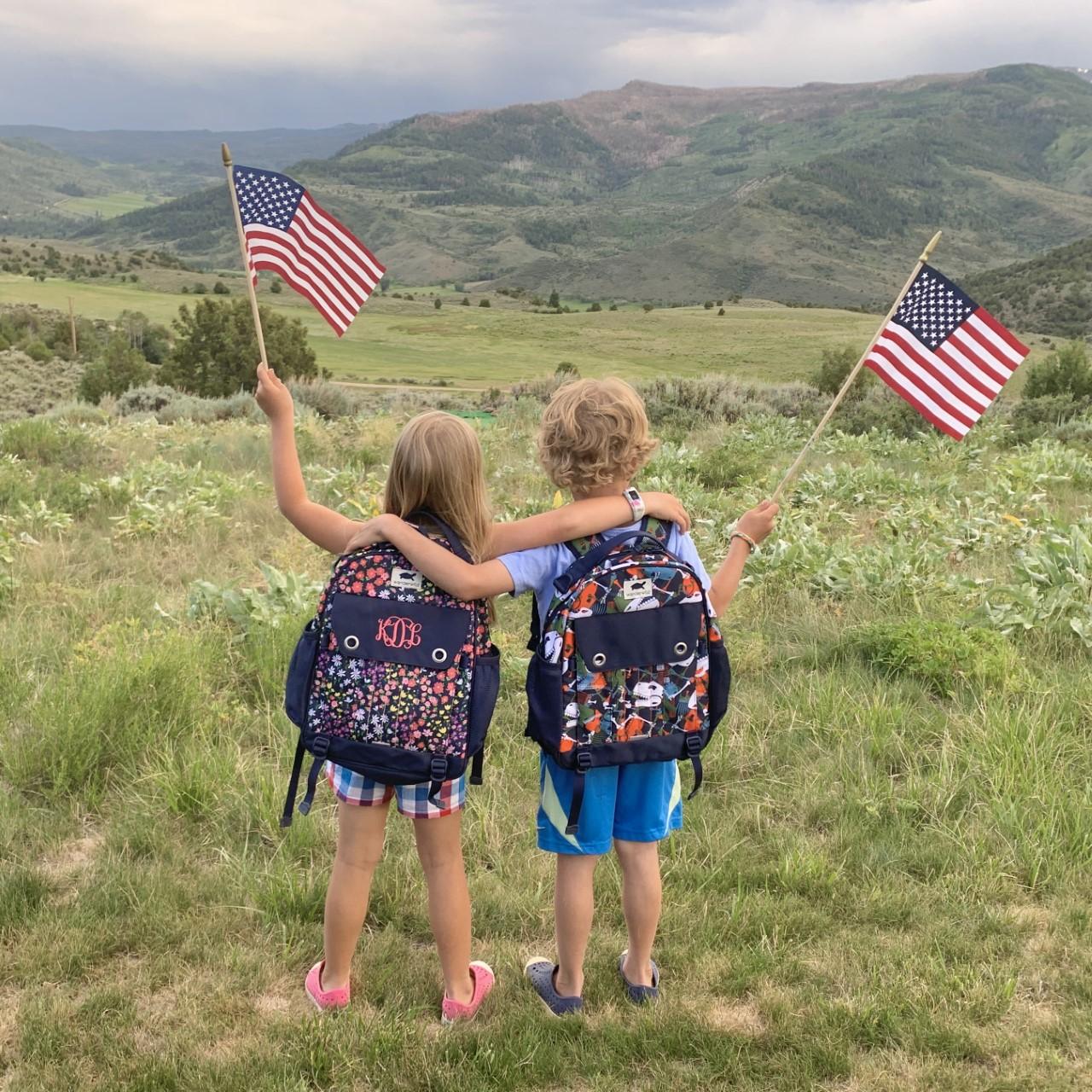 kids with Wanderwild backpacks