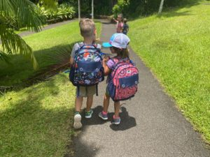 kids with Wanderwild backpacks
