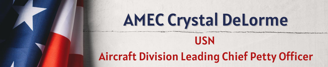AMEC Crystal DeLorme, USN, Aircraft Division Leading Chief Petty Officer