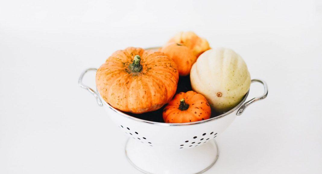 pumpkins in a colander