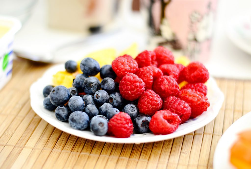 berries as a snack