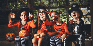 kids in costume for trick-or-treating