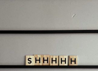 shhhh on letters