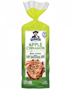 Quaker apple cinnamon rice cake