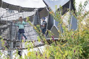 web playground with kids playing