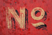 No on red background