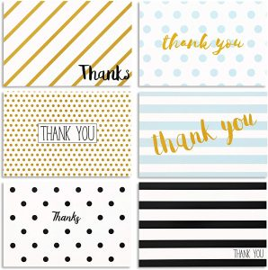 bulk pack of thank you cards