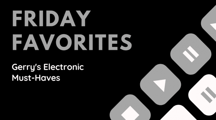 Friday Favorites Gerry's Electronic Must-Haves with grey and white keys