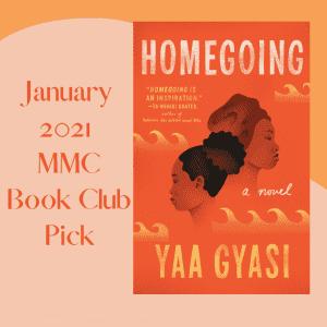home going by Yaa Gyasi on orange background