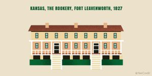 graphic of The Rookery, a historical home on Fort Leavenworth