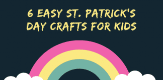 """rainbow and clouds with """"6 Easy St. Patrick's Day Crafts for Kids"""""""