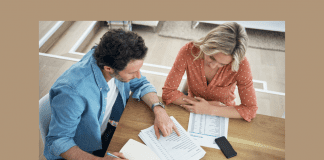 married couple going over financial documents