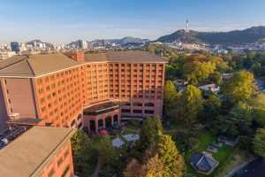 Aerial view of Dragon Hill Lodge and Resort in Seoul