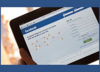 Facebook on an iPad