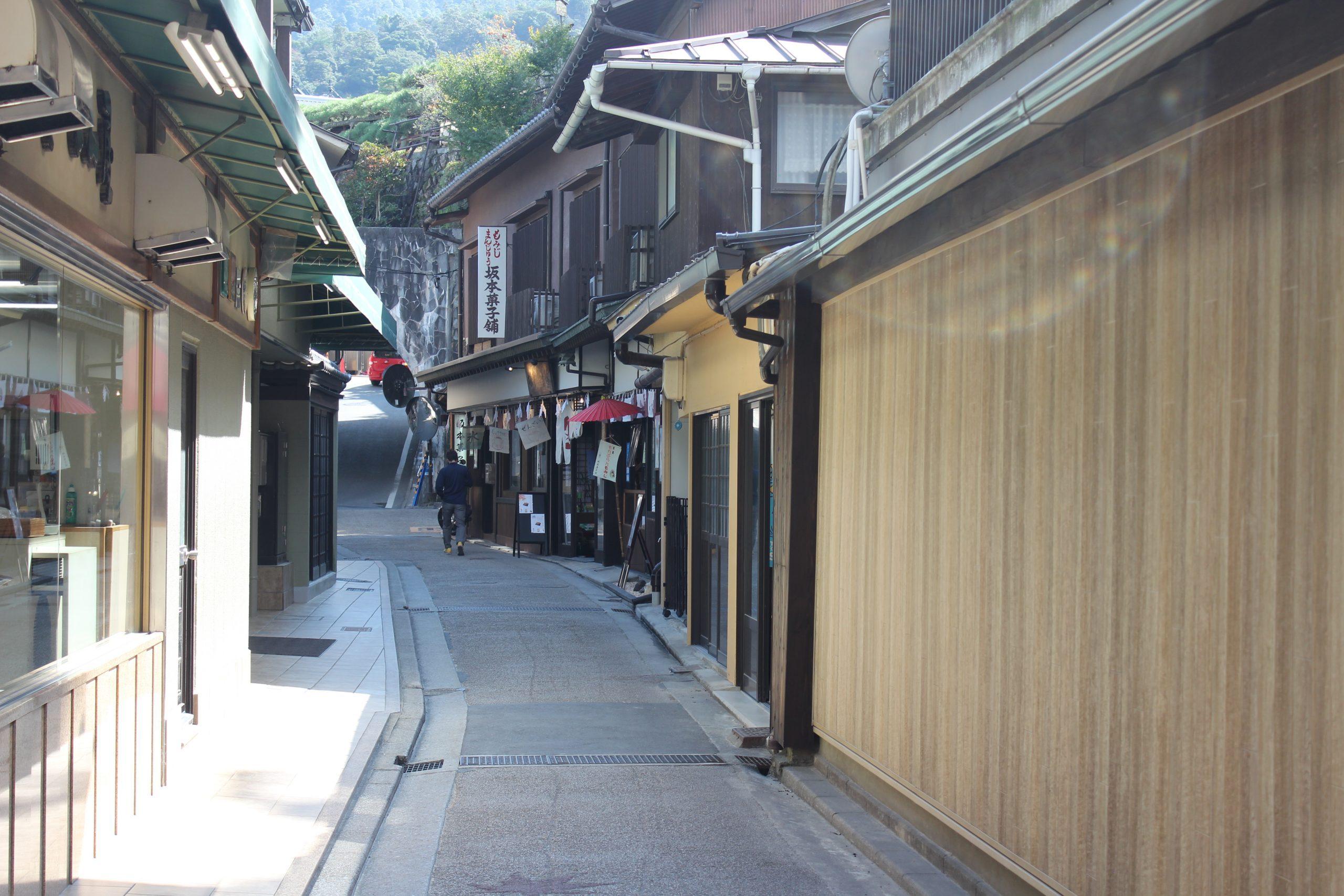 walking through miyajima