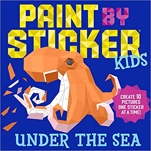 paint by sticker book for kids with octopus on the cover