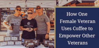 How One Female Veteran Uses Coffee to empower other veterans - interview with Army vet, Toni Deason