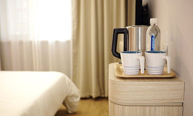 hotel coffee bar and bed