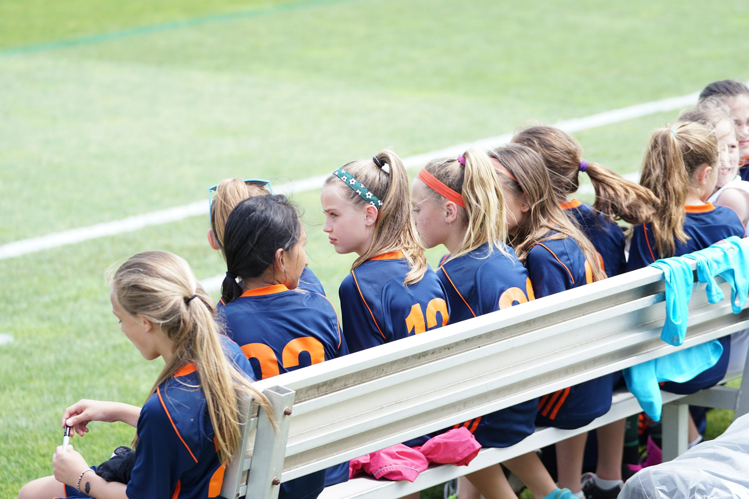 group of girl players on a team