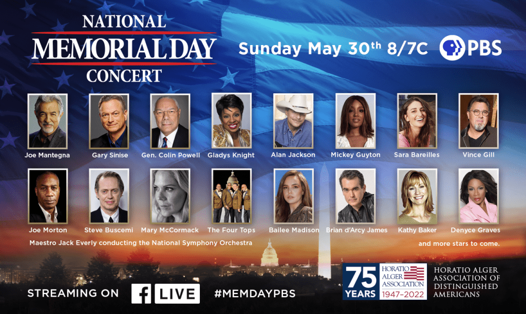 National Memorial Day Concert - Sunday May 30th at 8/7 c on PBS