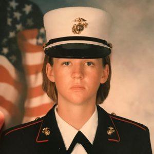 female USMC in uniform