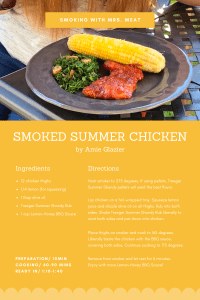 Smoked Summer Chicken recipe card