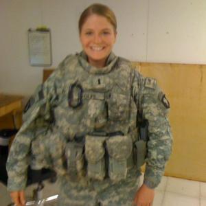Sara Copp - Woman in Army combat uniform smiling
