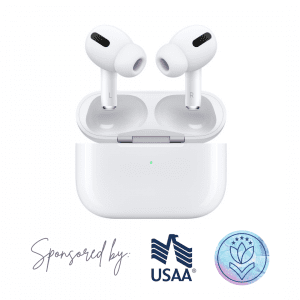 Apple AirPods Pro sponsored by USAA and The Military Mom Collective