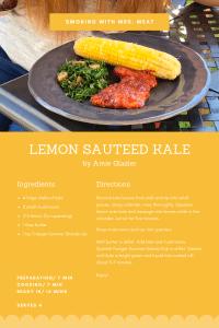 Lemon Sauteed Kale Recipe Card