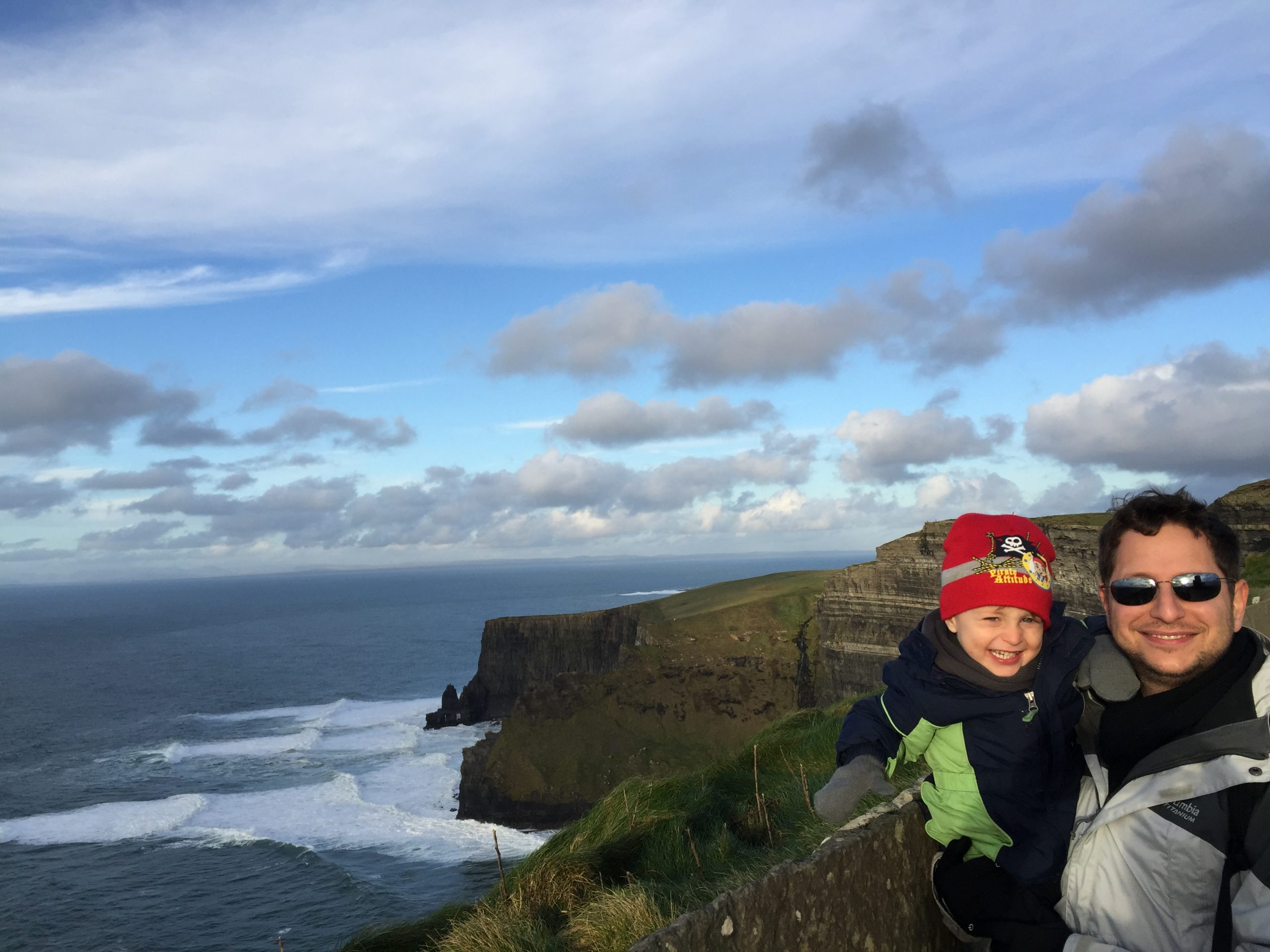 Father and son at the Cliffs of Moher, Irelandof Mo