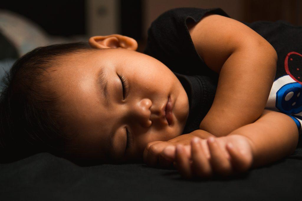 infant boy sleeping