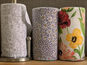 reusable paper towels in different patterns