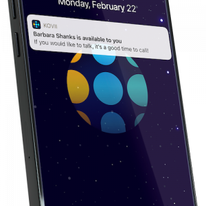 iPhone with Kovii notification