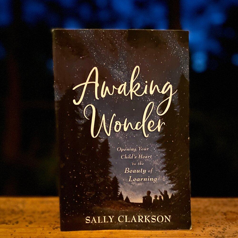 Book titled Awaking Wonder