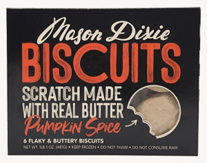 Mason Dixie pumpkin spice biscuits